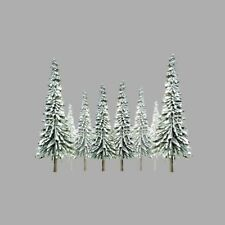 "JTT Scenery Snow Spruce Tree N-Scale 2"" - 4"" Super Scenic, 36/pk 92006"