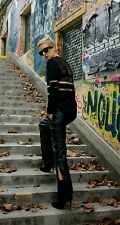 Alexander Wang x H&M TEARAWAY Real Leather Joggers Sz EUR 34/8