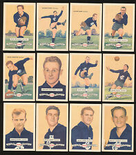 1958 Atlantic Petrol Carlton Team Set 12 Cards Picture Pageant Card