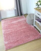 Velvet Pink Shaggy Rug in various sizes and runner