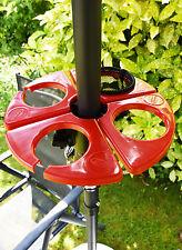 Garden Parasol Portable Glass Drinks Holder Beach Umbrella Brollie Side Table