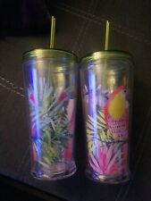 24 oz Double Wall Tumbler With Toucan Lot Of (2)