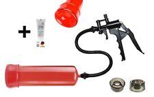Potenzpumpe Penispumpe 12. Enlarger FirePumpSE RED 1 Manschette/Scherengriff+GEL