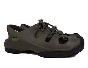 CROCS Brown/black Drawstring Water Sports/Hiking/Trail/Casual Women 10 Men's 8