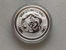 2000 P Australia Silver Lunar Series I Year of the Dragon 1 oz $1 - BU