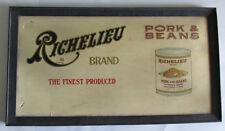 "Original RICHELIEU Pork & Beans Brand Sign Country Store Rare 22x12"" Advertising"