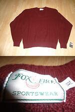 Women's Fox Fire XL NWT Bergundy Sweater L/S