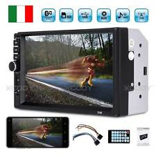 "7"""" Bluetooth Autoradio 2 DIN Touch Screen Stereo Mp5 Mp3 Media Player USB FM IT"