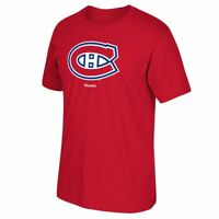 Montreal Canadiens NHL Reebok Jersey Crest Team Primary Logo T-Shirt Men's