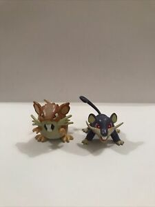 Pokemon Vintage Tomy Figure Rattata And Raticate Rare C.G.T.S.J Collectable 1999