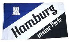 Flagge / Fahne Hamburg Meine Perle Wappen Hissflagge 90 x 150 cm