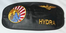 USN VFA-192 World Famous Golden Dragon Callsign Hydra Pilot Leather Visor Cover