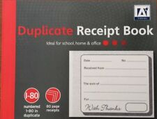 DUPLICATE RECEIPT BOOK 80 PAGES