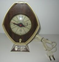 "BROWN & BIGELOW ""REMEMBRANCE"" DESK ELECTRIC ALARM CLOCK"