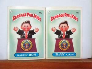 Topps UK GARBAGE PAIL KIDS 2nd series - 46a & 46b - Rappin Ron & Ray Gun