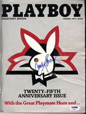 Candy Loving SIGNED January 1979 25th Ann. Playboy Magazine PSA/DNA AUTOGRAPHED