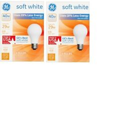 8 Pack GE 40 Watt  Soft White Incandescent Light Bulbs MADE in USA