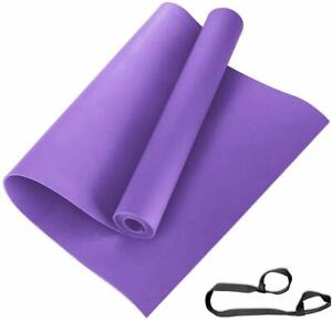 Yoga Mats with Carrying Strap, Make in India, Purple 8mm pack of 1