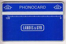EUROPE TELECARTE / PHONECARD .. SUEDE 120U L&G 704L PHONOCARD TEST NOTCHED