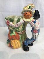 1996 Fitz & Floyd Ceramic Scarecrow Mug Autumn Decoration NEW IN ORIGINAL BOX