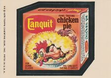 1975 WACKY PACKAGES SERIES 14 SINGLE STICKER CANQUIT WHITE BACK