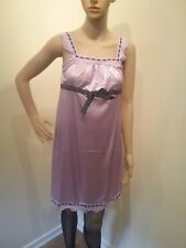 silk feel satin night gown baby doll lingerie transvestite crossdresser cds 0008
