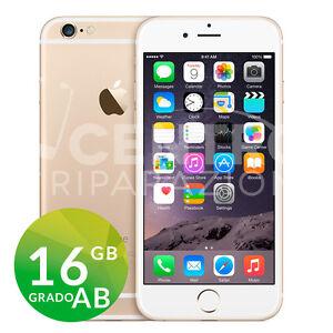 APPLE IPHONE 6 16GB GOLD ORO ORIGINALE GRADO AB RIGENERATO RICONDIZIONATO