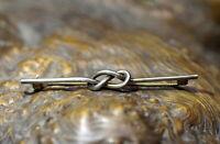 Nachlass antike Brosche Nadel 835er Silber Meisterpunze Knoten edel & wertvoll