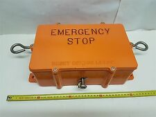 Eclipse E2020R-A4P Emergency Stop Wire-Pull Switch Orange Aluminium Body New