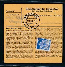 26500) Ra2 Eversen über Bückeburg a.30PF Bauten als Zustellgebühr Paket-Kte 1951
