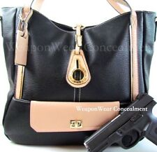 Purse Concealed Carry Concealment Gun Black  CCW Holster Tote Plus Gift 47