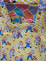 VTG Raggedy Ann Andy Bobbs Merrill Bunk Youth FLAT Bed SHEET and PILLOWCASE SS