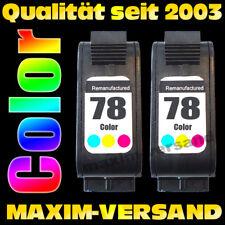 Ink Cartridges Set 2x for hp 78 Officejet V30 V40 V45 K60 K80 G55 G85 G95