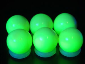 6 Pack Marbles Vitro Agate Glowers HTF MINT Marbles Dt-18