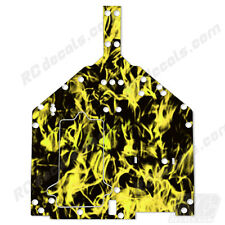 Losi Baja Rey Chassis Plate Protector Thick Graphics - Flames Yellow LOS231010