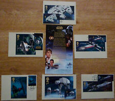 STAR WARS .Stamped Postcard Collection, ( VEHICLES ). Special Postmarks