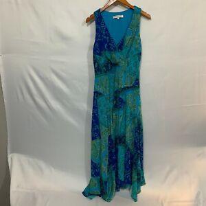 Evan Picone Womens Multicolor Boho Floral V Neck Sleeveless Maxi Dress Size 16