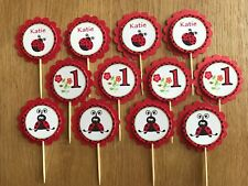 LadyBug Personalised Cupcake Toppers ~ Birthday Party, Baby Shower, Christening