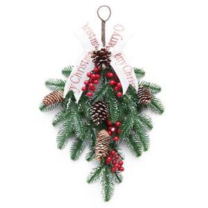 Christmas Wreath Decorations Front Door Garland Wreath Artificial Tree Ornaments