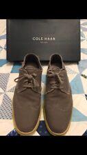 Cole Haan Lunargrand Wingtip Oxfords Men's Size 10 M Grey Canvas C21003