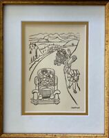 DIEGO RIVERA ORIGINAL 1938 SIGNED ON THE PLATE VINTAGE GRAVURE MATTED TO 8X10