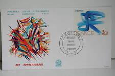 ENVELOPPE PREMIER JOUR- 1977 ART CONTEMPORAIN