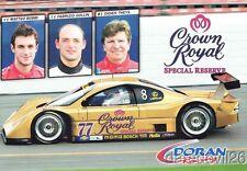 2005 Doran Racing Crown Royal Lexus Daytona Prototype Rolex 24 Grand Am postcard