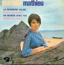 """MIREILLE MATHIEU - Ep - La Derniere Valse / Seuls Au Monde / 7 """" Single (S9872)"""