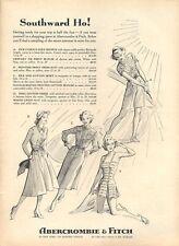 1957 Abercrombie & Fitch Fashion Golf Swimwear Dress PRINT AD
