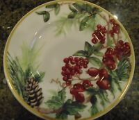NEW WILLIAMS SONOMA BOTANICAL HOLLY  SALAD PLATE
