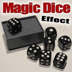 MAGIC DICE TRICK 7 BLACK DIE & BOX AMAZING MIRACLE NUMBER CHANGE PREDICT EFFECT
