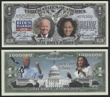 Vote Biden-Harris 2020 Million Dollar Novelty Money