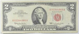 Crisp 1963 Red Seal $2 United States Note - Better Grade *753