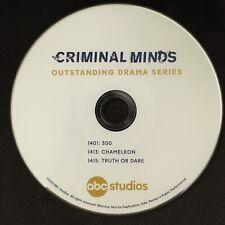 CRIMINAL MINDS Season 14 Promo DVD Emmys CBS Joe Mantegna Matthew Gray Gubler